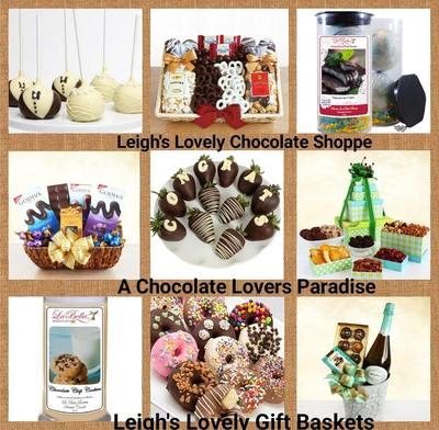 Collage photo link for Leigh's Lovely Chocolate Shoppe