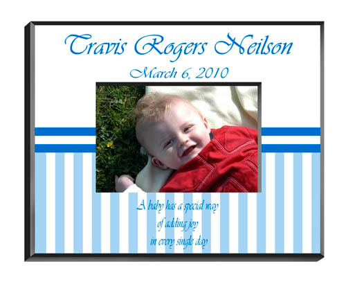 "Decorative child's photo frame offers designs that grow with the child. Fifteen designs for boys and ten for girls. Frames measure 8"" x 10"" and hold a 4"" x 6"" photo. Personalize your Frame in the same manner as your image selection."