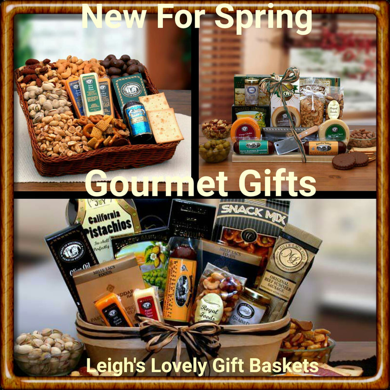 Meat, cheese and nut gift baskets for anytime and any occasion!