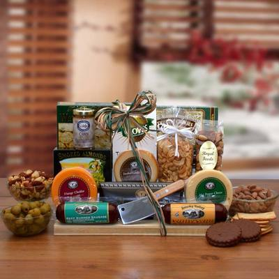Ultimate Gourmet Nut and Sausage Board  $69.99