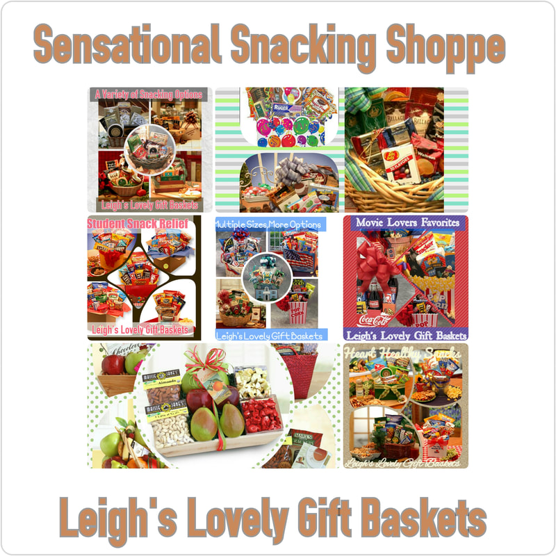 Collage Banner Link to Leigh's Sensational Snacking Shoppe III Page.