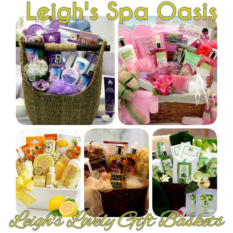 Photo Collage link to Spa & Bath Gift Baskets